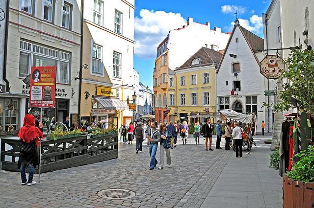 Winkelwandelstraat in het centrum van de Estse hoofdstad
