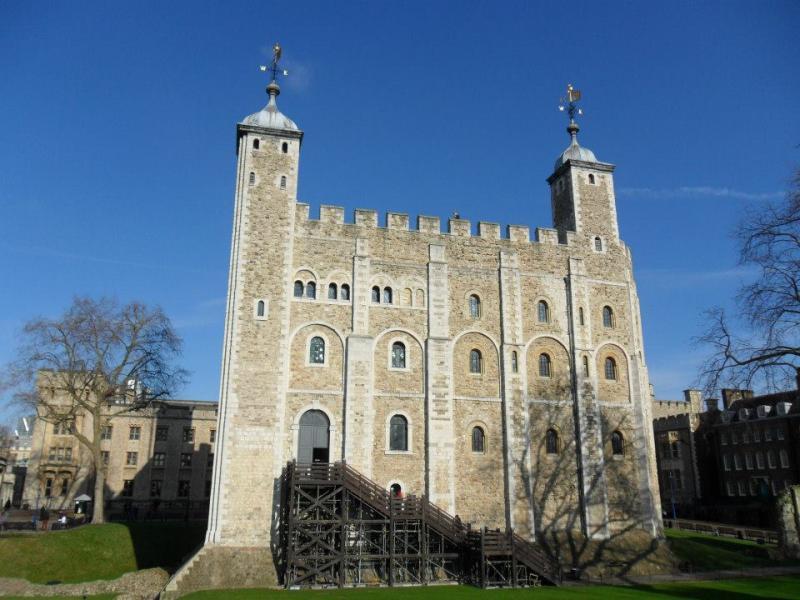 Het kasteel op het binnenplein van The Tower of London.
