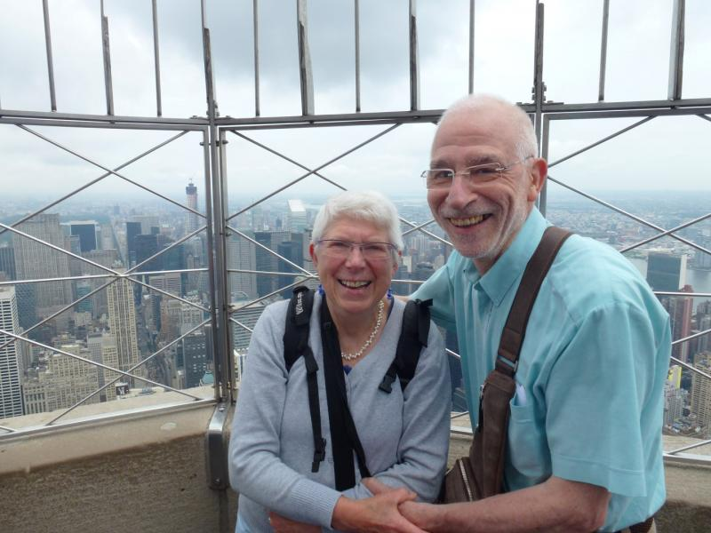 Chris en zijn echtgenote in New York