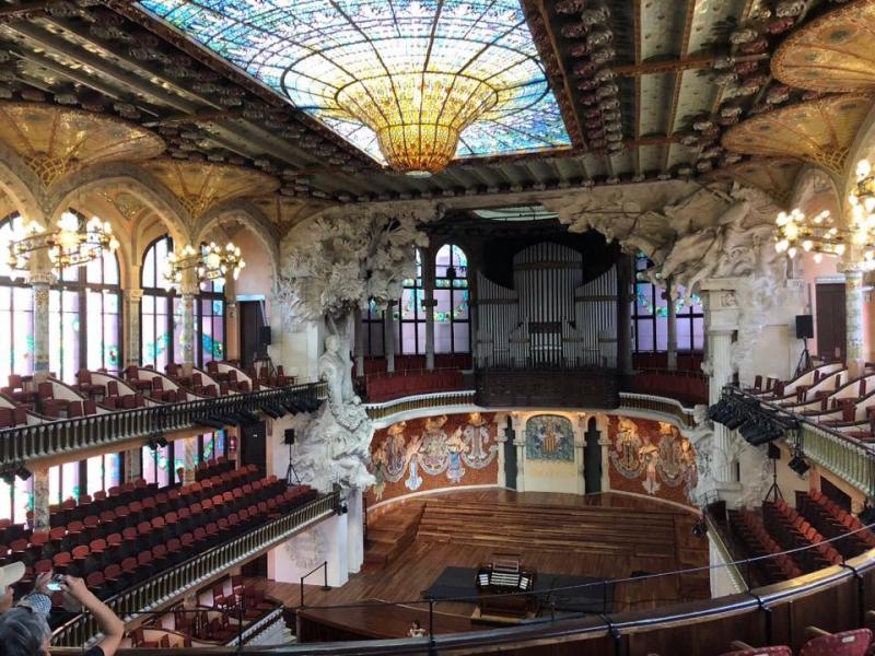 concertzaal in Palau de la Musica