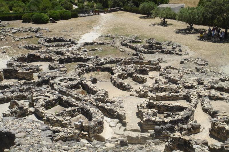Archeologische resten uit de bronstijd.