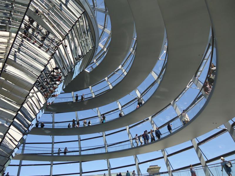 Koepel van de Reichstag in Berlijn
