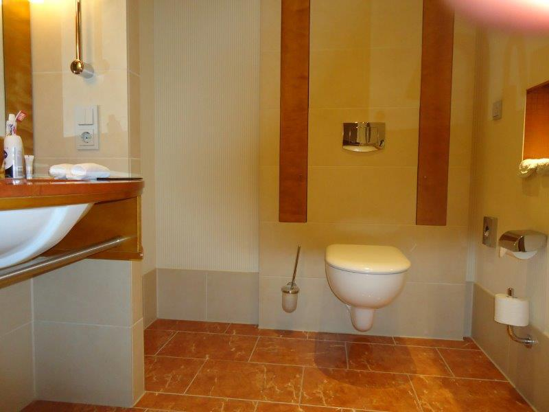 onderrijdbare lavabo en toilet met linkse transfer mogelijkheid
