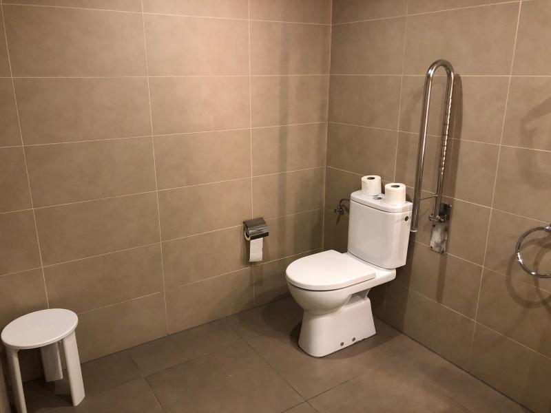 Toilet met beugel