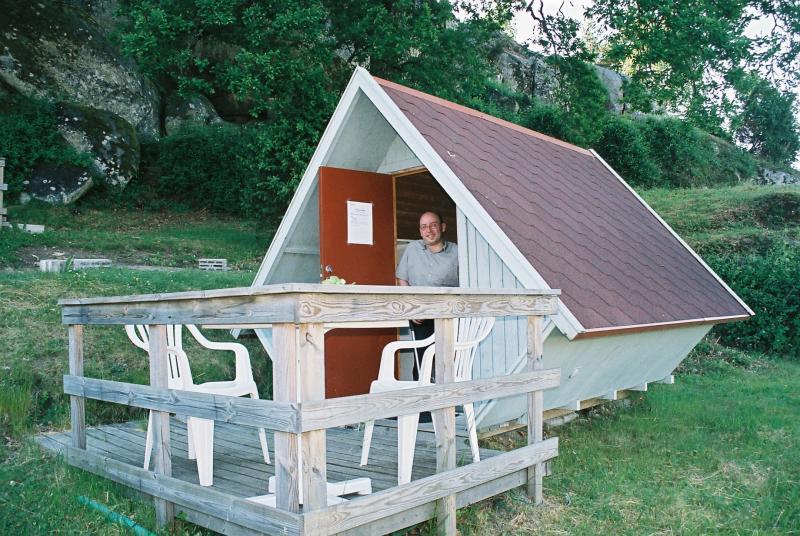 Een mini-trekkershutje in Zweden