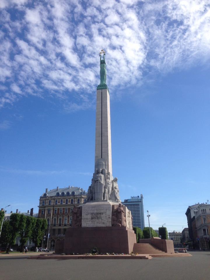 Vrijheidsbeeld in Riga.
