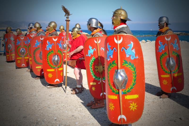 Voorstelling van Romeinse soldaten.
