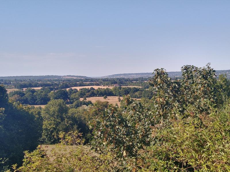Panorama over Normandische dorpjes.