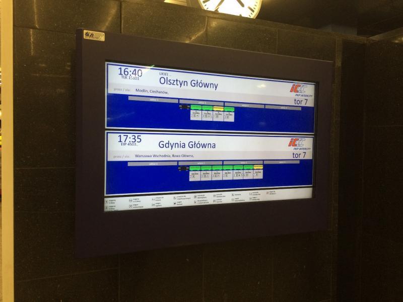 Het bord op ooghoogte dat duidelijke info geeft over de 2 volgende treinen.
