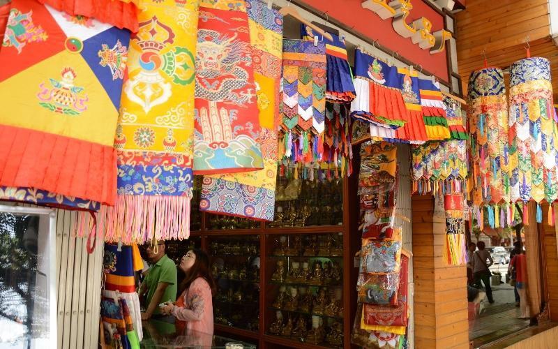 De Tibetaanse wijk in Chengdu