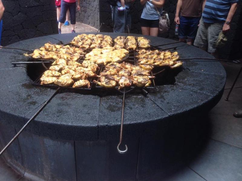 BBQ op vulkanische warmte