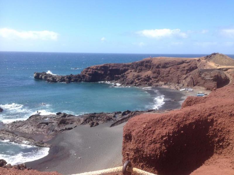 El Golfo waar de zee en lava elkaar raken