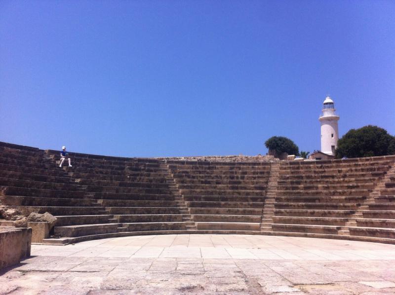 Het amfitheater in het archeopark van Paphos
